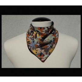 Wild Creatures on Black bamboo velour Petite Scarf