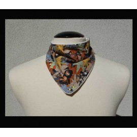 Wild Creatures on Natural bamboo velour Petite Scarf