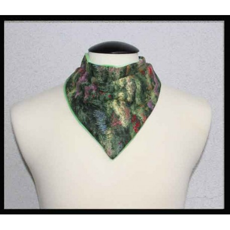Peaceful Garden cotton & Mint Bamboo Velour Petite Scarf