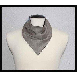 Light Brown Twill & Black Bamboo Jersey Petite Scarf