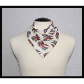Patriotic Eagle Cotton & Dye-free Bamboo Terry Cloth Petite Scarf