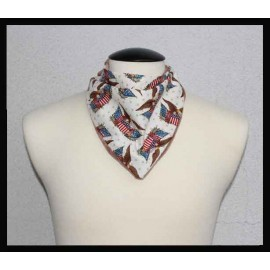 Patriotic Eagle Cotton & Brown Bamboo Velour Petite Scarf