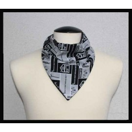 Kings Hockey cotton & Black Bamboo Jersey Petite Scarf
