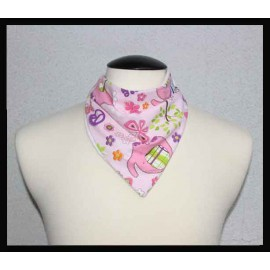 Pink Elephant Cotton & Dye-free Bamboo Terry Petite Scarf