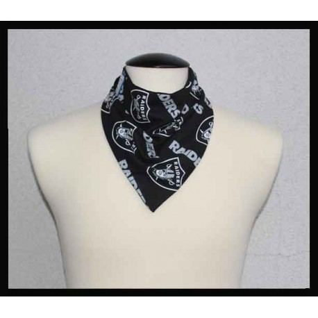 Raiders Fan Cotton & Black Bamboo Jersey Petite Scarf