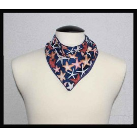 Starfish Cotton & Navy Bamboo Velour Petite Scarf