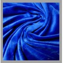 Bamboo Velour - Royal Blue - 1 yard