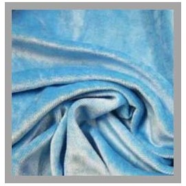 Bamboo Velour - Powder Bluel Blue - 1 yard