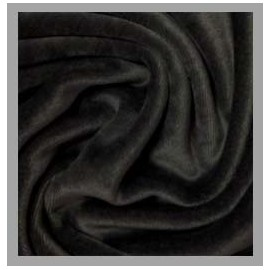 Bamboo Velour - Black - 1 yard