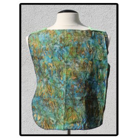 LaLa Clothing Protector_Batik Water with Mint Green Bamboo Velour