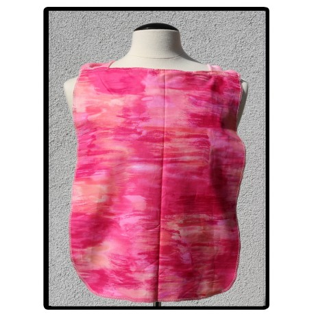LaLa Clothing Protector_Pink Batik with Pink Bamboo Velour