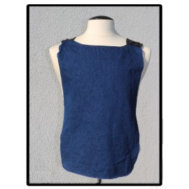 LaLa Clothing Protector_Blue Jean with Black Bamboo Jersey