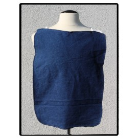 LaLa Clothing Protector_Blue Jean with Dye-free Bamboo Terry Cloth
