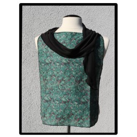 LaLa Clothing Protector_Cracked Jade with Black Bamboo Jersey