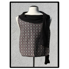 LaLa Clothing Protector_Diamond Speck with Black Bamboo Jersey