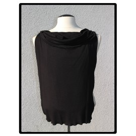 LaLa Clothing Protector_Original Black Bamboo Jersey with Cowl
